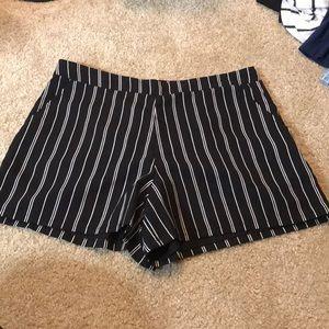 Kaari Blue pinstripe shorts